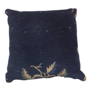 "Leon Banilivi Antique Chinese Navy Pillow, 1'5"" X 1'5"""