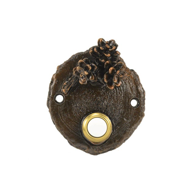Our Western Hemlock doorbell was originally fashioned from the end of a piece of log. It is highlighted with three of our...