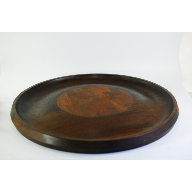 "Absolutely Beautiful Dansk Dark Wenge Wood Tray & Cheese Board from the ""Rare Woods"" Collection, this piece was designed..."