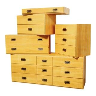 5 Piece Modular Drawer Unit For Sale
