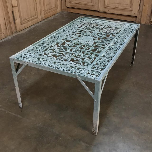 Metal 19th Century Iron Panel Coffee Table For Sale - Image 7 of 12