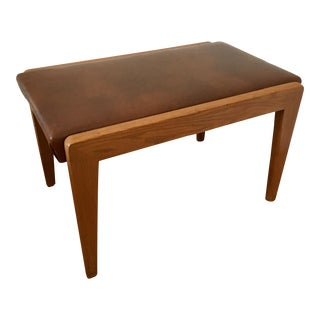 Mid-Century Wood Bench For Sale