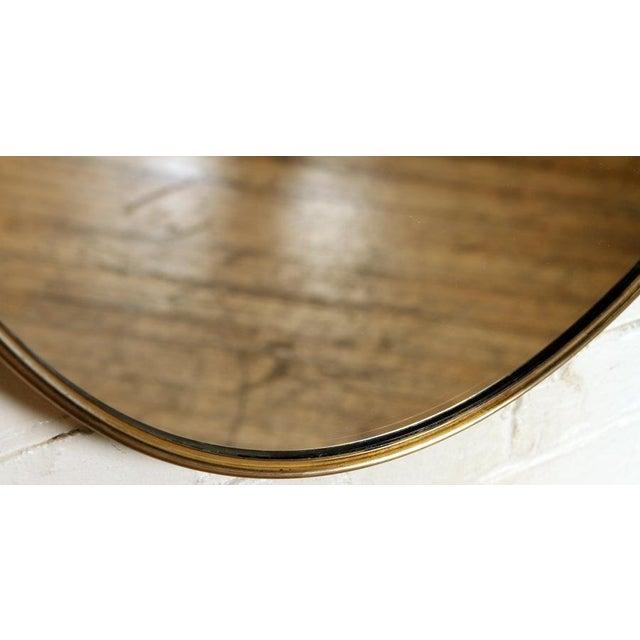 Italian Mid 20th Century Gio Ponti Shield Mirror For Sale - Image 3 of 5