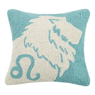 "Leo Hook Pillow, 14"" x 14"" For Sale"