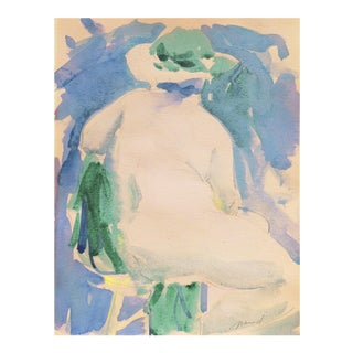 'Nude in a Green Hat' by Marvin Mund, San Francisco Impressionist Figural, Legion of Honor For Sale
