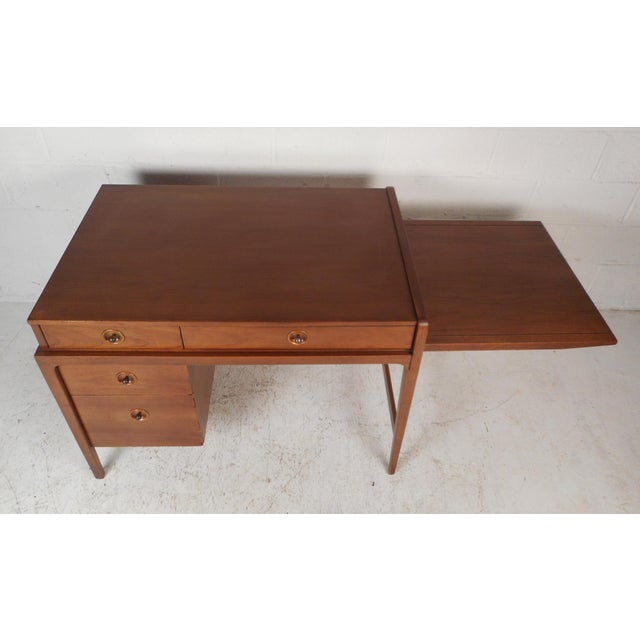Mid-Century Modern Mid-Century Modern Desk With Side Extension For Sale - Image 3 of 12