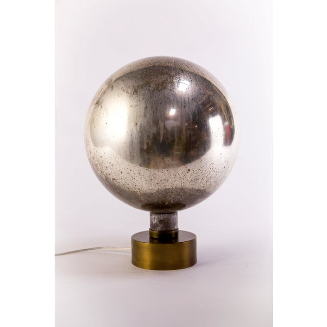 Dogfork Lamp Arts Mercury Glass Sphere Table Lamp For Sale - Image 4 of 13