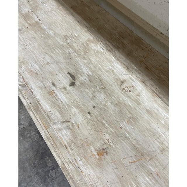 Wood Belgian Bleached Oak Barley Twist Bookcase Shelf For Sale - Image 7 of 13