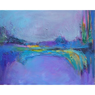 Purple Bridge Abstract Painting For Sale
