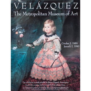 "DIEGO VELAZQUEZ Infanta Margarita 49"" x 38"" Poster 1989 Multicolor For Sale"