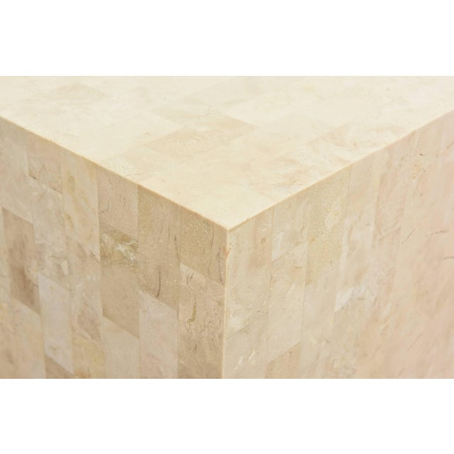 Modern 1970s Modern Maitland-Smith Tessellated Stone Cube Side Table For Sale - Image 3 of 9
