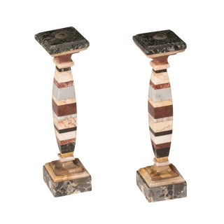 Marble Specimens as Decorative Objects - a Pair For Sale