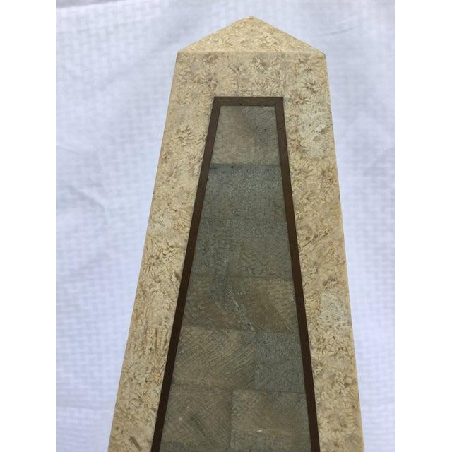 Maitland Smith Tessellated Stone Obelisk - Image 6 of 8