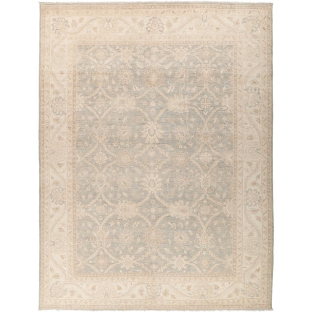 "Oushak Hand Knotted Area Rug - 8' 10"" X 11' 8"" - Image 4 of 4"