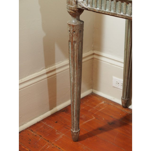 Gray Louis XVI Console Table For Sale - Image 8 of 10