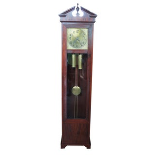 Antique Colonial Mfg Co Empire Style Mahogany Grandfather Clock Preview