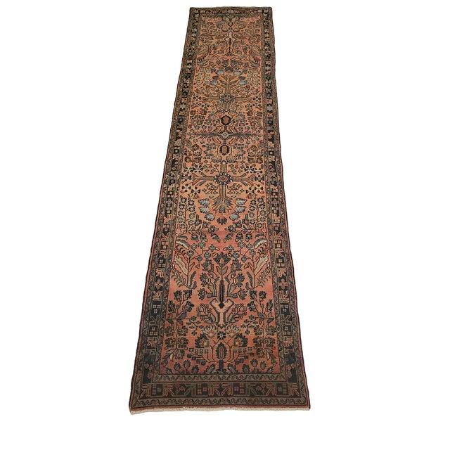 "Textile 1920's Persian Hamadan Handmade Rug - 2'7"" X 11'4"" For Sale - Image 7 of 7"