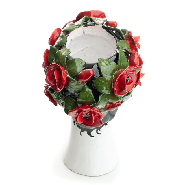 Not Yet Made - Made To Order Sculpture with Roses, Ceramiche D'arte Dolfi For Sale - Image 5 of 12