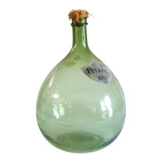 Green Blown Glass Bottle For Sale