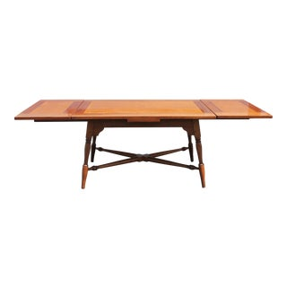 1960s Early American Dining Table with Built in Leaves For Sale