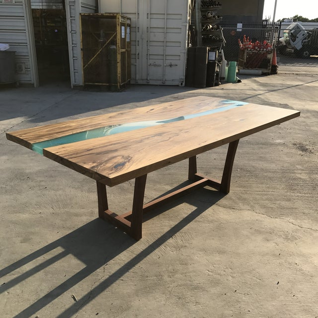 Wood & Resin River Table For Sale - Image 10 of 11