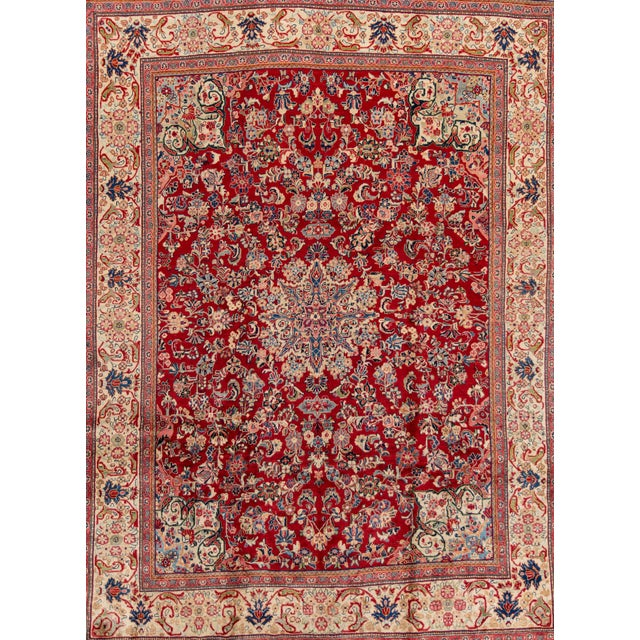 """Textile Antique Mahal Rug, 9'5"""" X 12'8"""" For Sale - Image 7 of 7"""