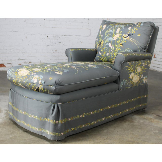 Vintage 1940's Newly Upholstered Double Armed Chaise Lounge - Image 2 of 11