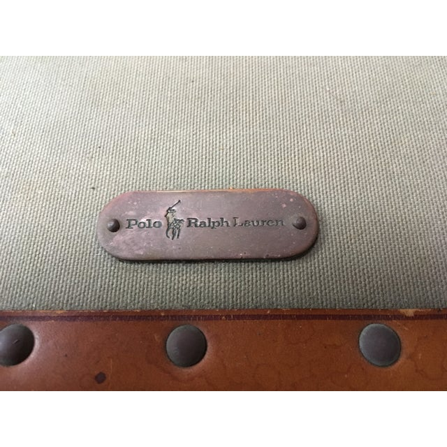 51cd4acf2f99 Traditional Vintage Ralph Lauren Canvas Leather Suitcase For Sale - Image 3  of 13