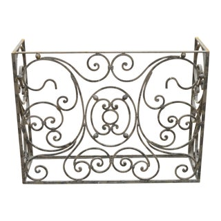 Vintage Wrought Iron Fancy Scrollwork French Art Nouveau Style Console Table Base For Sale