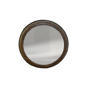 Round Metal Spanish Mirror For Sale