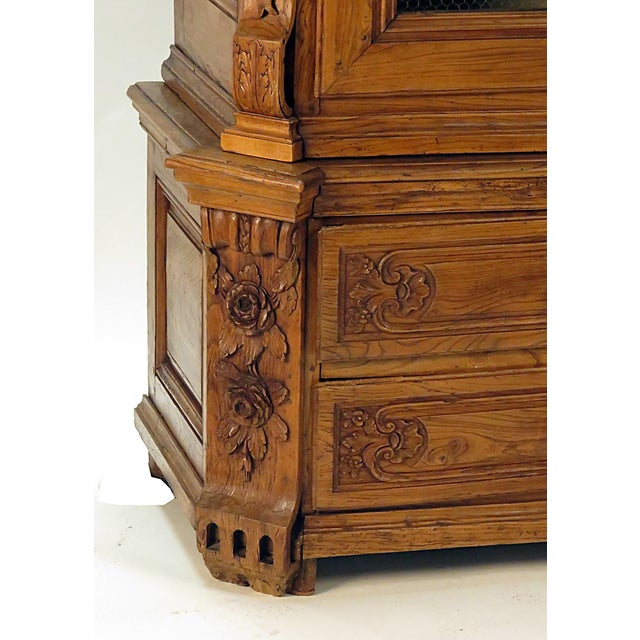 Elm Early 19th Century Elm Richly Carved Baltic Cabinet For Sale - Image 7 of 8