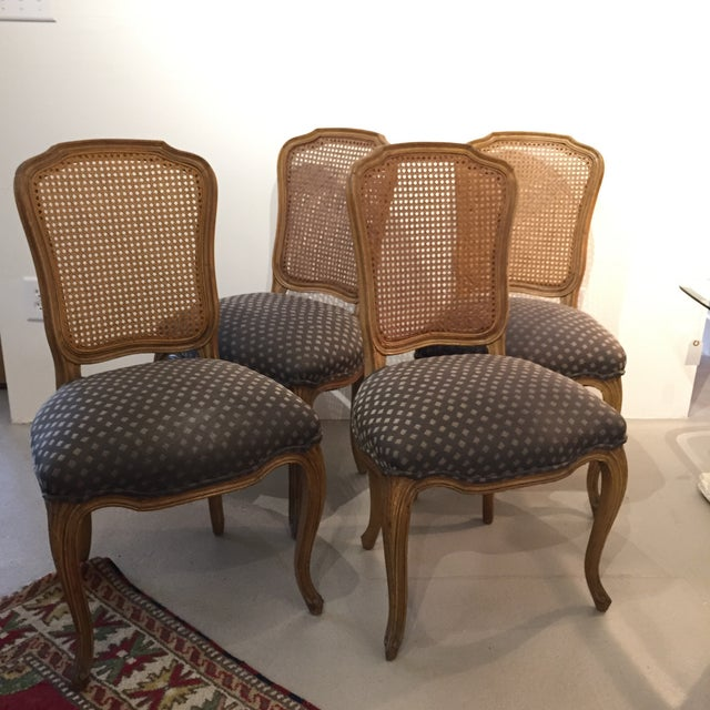 English Traditional Queen Anne Caned Back Chairs - Set of 4 For Sale - Image 3 of 9