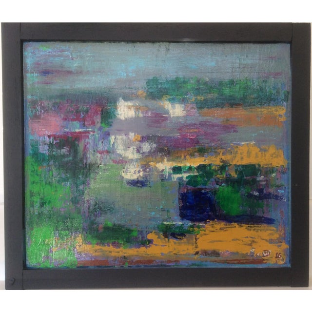 "Abstract ""Cape Cod Salt Marsh"" Painting For Sale"