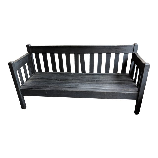 Antique Heavy Wooden Porch Swing For Sale