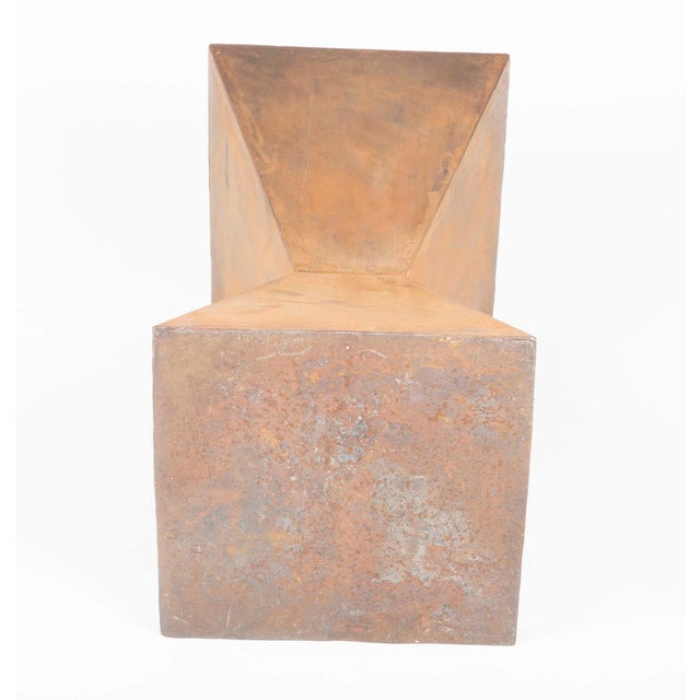 Brancusi Style Steel Side Tables - A Pair For Sale In New York - Image 6 of 13