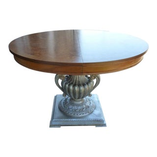 1980s Vintage Italian Neoclassical Style Dining/Center Table For Sale