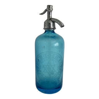 Aqua Brooklyn Seltzer Bottle For Sale