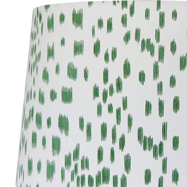 Contemporary Green Animal Print Lamp Shade For Sale - Image 3 of 4