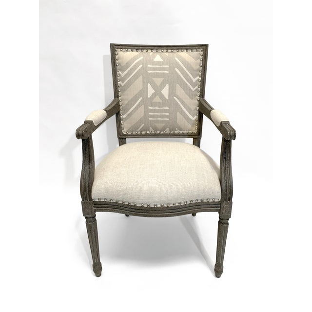 Palecek Lion Square Back Arm Chair For Sale - Image 10 of 10