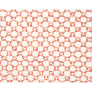 Hinson for the House of Scalamandre Island Trellis Fabric in Peach For Sale