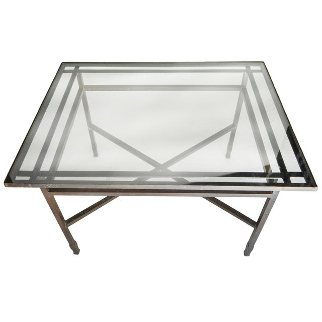 Bronze Table base With Glass Top For Sale - Image 4 of 8