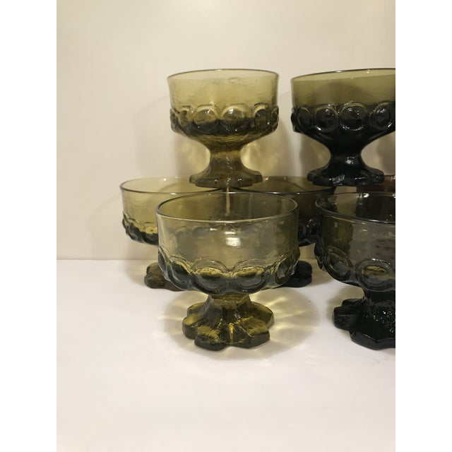 Mid-Century Modern 1960s Mid-Century Modern Tiffian Franciscan Madeira Multi Color Glass Dessert Cups - Set of 9 For Sale - Image 3 of 6
