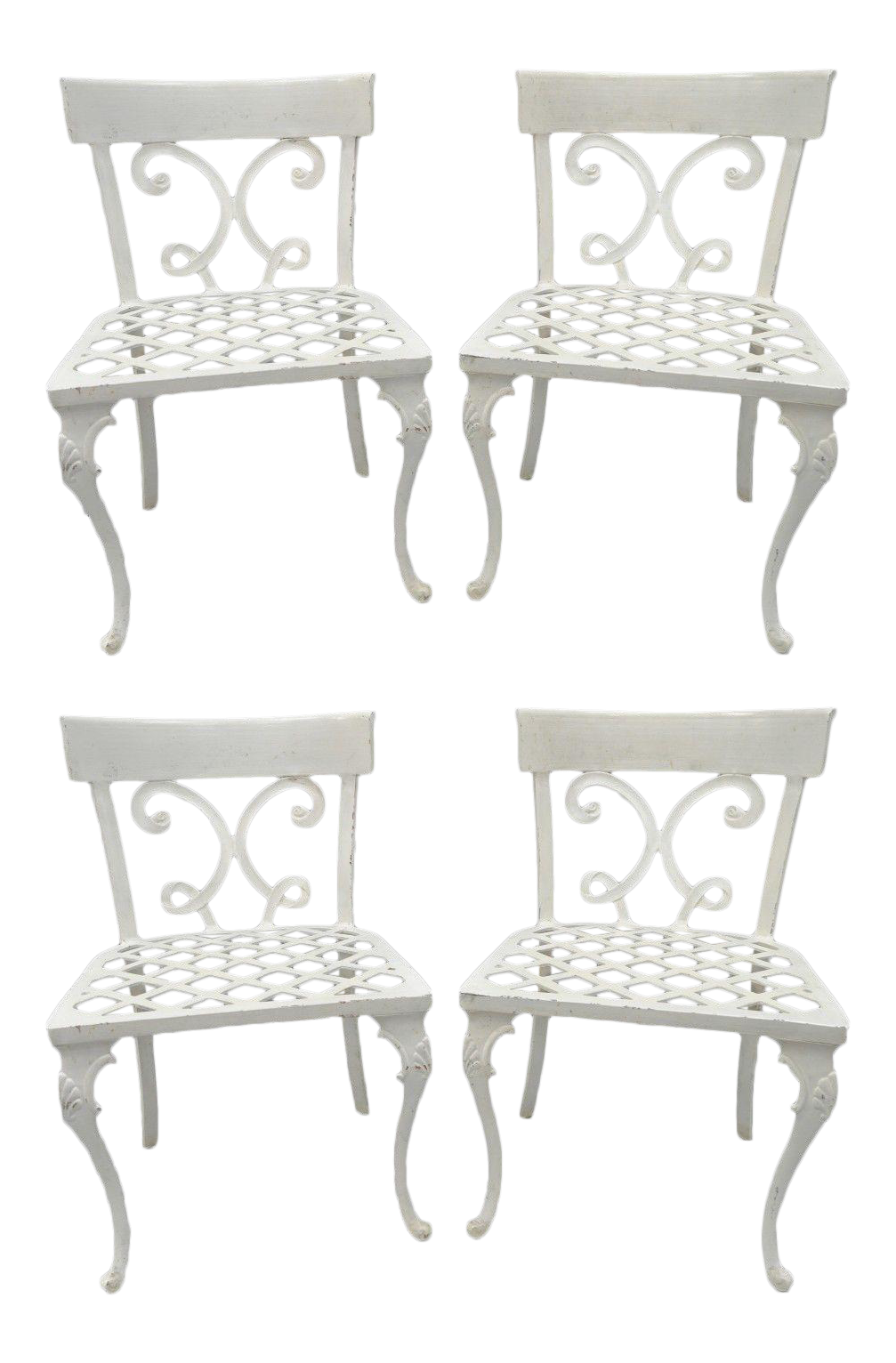 aluminum patio chairs. Neoclassical Regency Style Cast Aluminum Patio Chairs - Set Of 4 Aluminum Patio Chairs