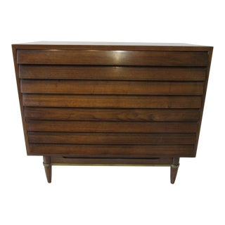Mid Century Walnut Small Dresser by American of Martinsville For Sale