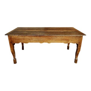 19th Century French Country Farmhouse Oak Dining Table