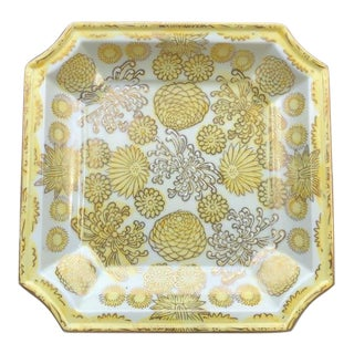 Floral Decorative Plate by Andrea for Sadek For Sale