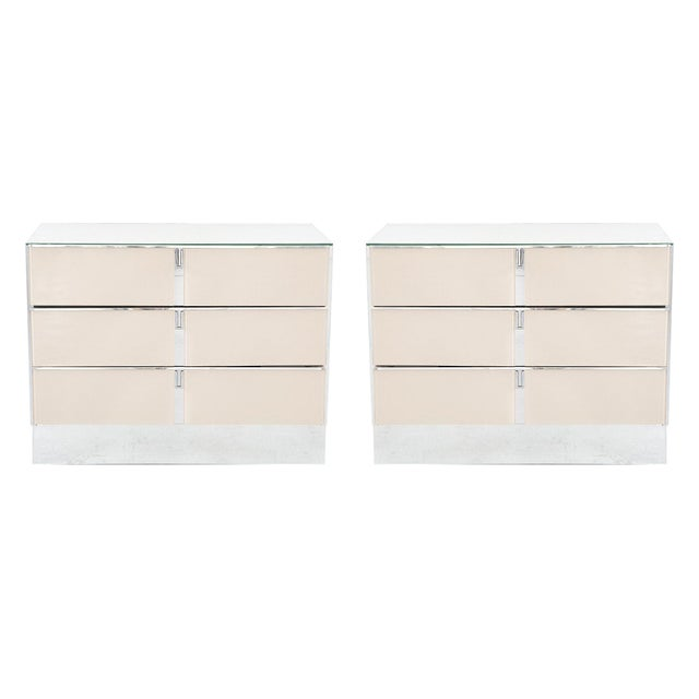 Ello Dusty Rose Side Dressers - A Pair - Image 9 of 9