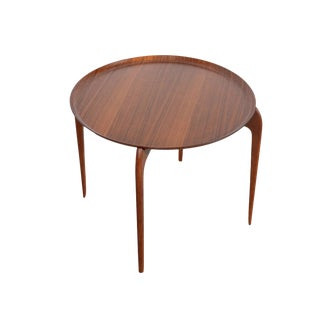 1960s Danish Modern Fritz Hansen Teak Tray Table For Sale