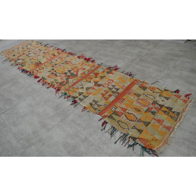 Antique Handmade Turkish Tribal Runner - 2′6″ X 13′2″ For Sale - Image 4 of 10