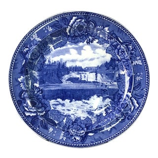 Upper Falls Rumford Falls, Maine - Wedgwood Souvenir Plate For Sale
